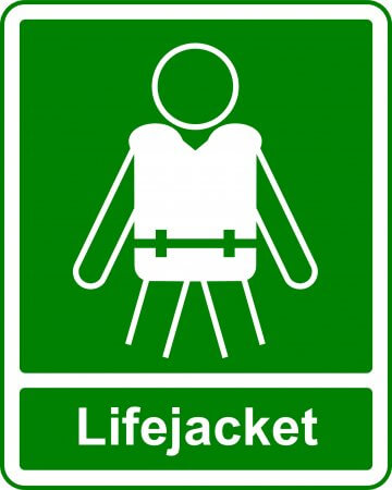 Life Jacket - Safe Condition Sign