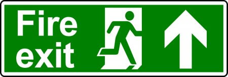 Fire Exit Sign - Man with Up Arrow