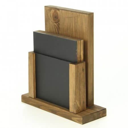 Dark Oak Chalkboard Menu Holder with Insert