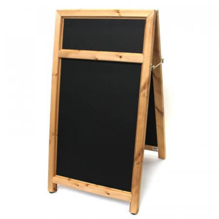 Chunky Wooden A-board with Header Panel