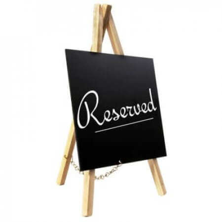 Reserved Easel