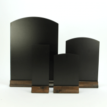 Arched Table & Counter Top Blackboards with Wooden Base
