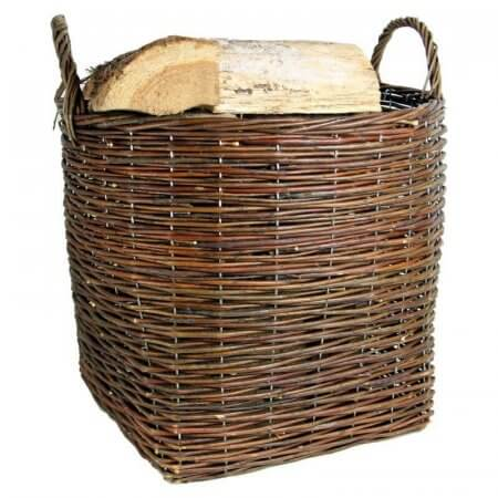 Log Baskets Rustic Brown filled with Logs