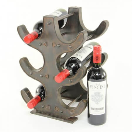 Rustic Brown Wine Rack