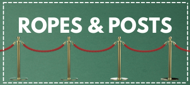 ropes, posts, queue system, barrier rope, VIP barrier, vip entrance, queue, velvet rope, twisted ropes, gold posts, silver post