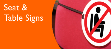 Social Distancing Seat & Table Signs